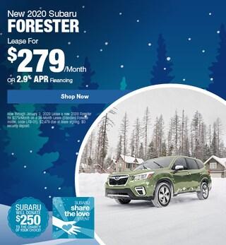 New 2020 Subaru Forester - December Special