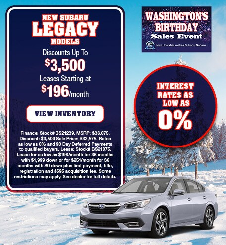 New Subaru Legacy Models