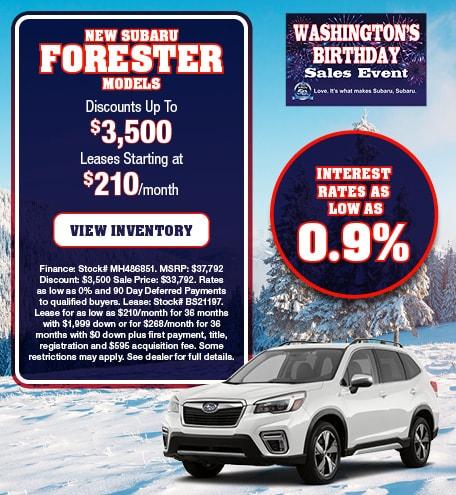 New Subaru Forester Models