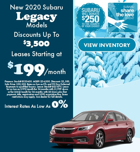New 2020 Subaru Legacy Models