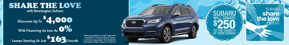 Share the Love with Bennington Subaru