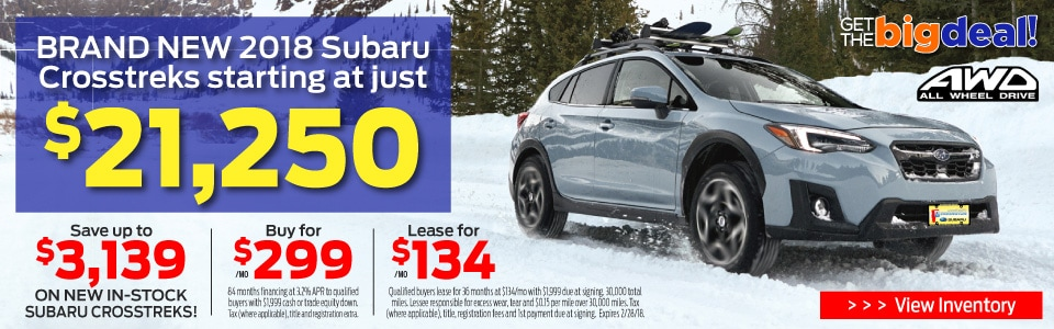Subaru Crosstrek Sale