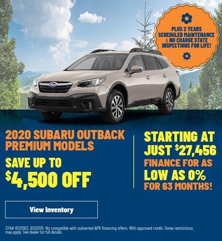 2020 Subaru Outback Premium Models