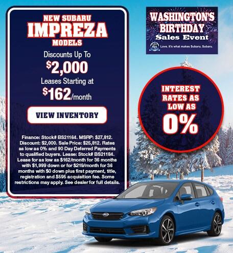 New Subaru Impreza Models