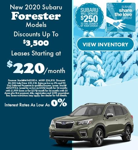 New 2020 Subaru Forester Models