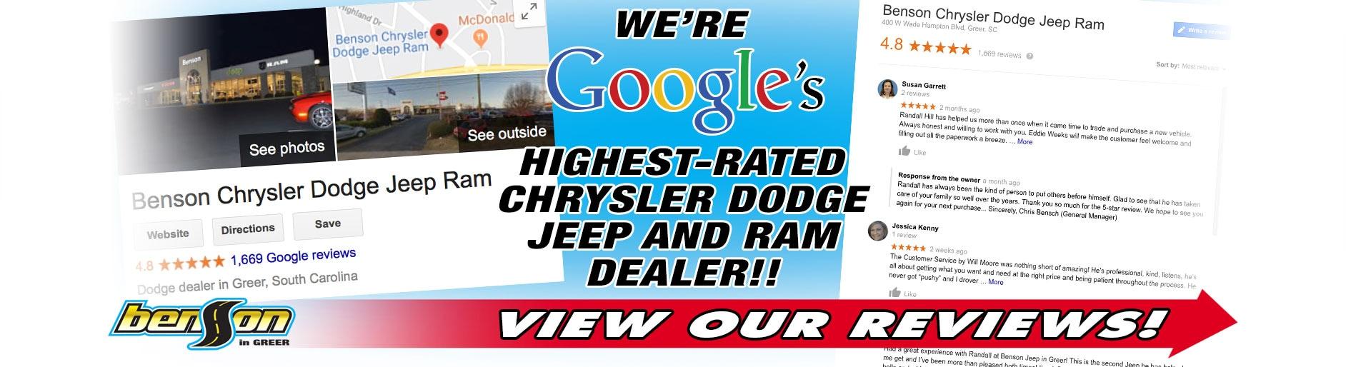 New 2019 & Used Car Dealership in Greer SC | Benson Chrysler Jeep