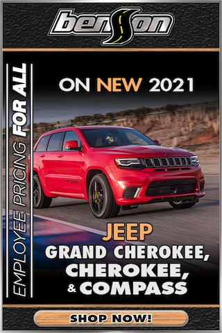 Employee Pricing On Select 2021 Jeep Models