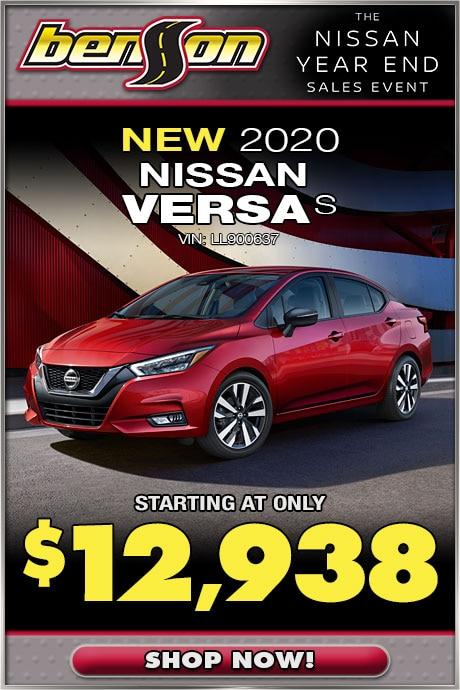 New 2020 Nissan Versa
