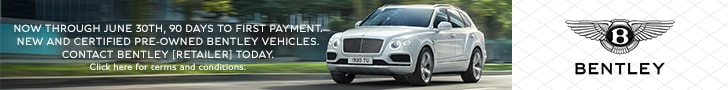 90 Days To First Payment On New Bentley Vehicles