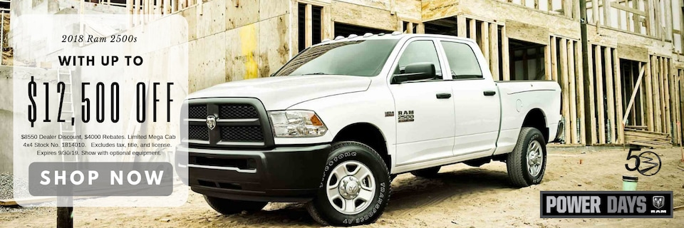 2018 Ram 2500s with up to $12,500 Off MSRP