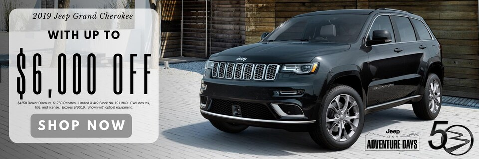 2019 Jeep Grand Cherokee with up to $6,000 Off MSRP