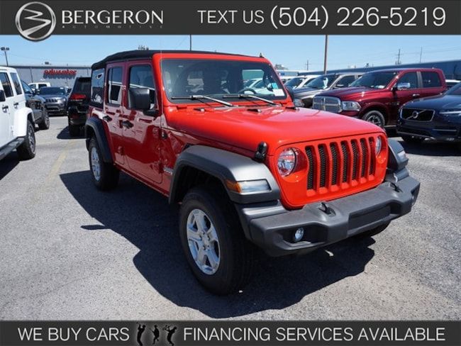 New 2018 Jeep Wrangler UNLIMITED SPORT S 4X4 Sport Utility for sale in Metairie, LA at Bergeron Chrysler Dodge Jeep Ram SRT Mopar