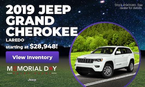 May 2019 | 2019 Jeep Grand Cherokee Laredo