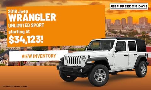 2018 Jeep Wrangler Unlimited Sport | Bergeron CDJR