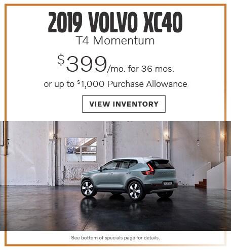 New 2019 Volvo XC40 T4 Momentum June