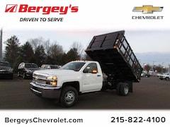2019 Chevrolet Silverado 3500HD 4WD 12 V/R Rack Dump Stake Truck Regular Cab