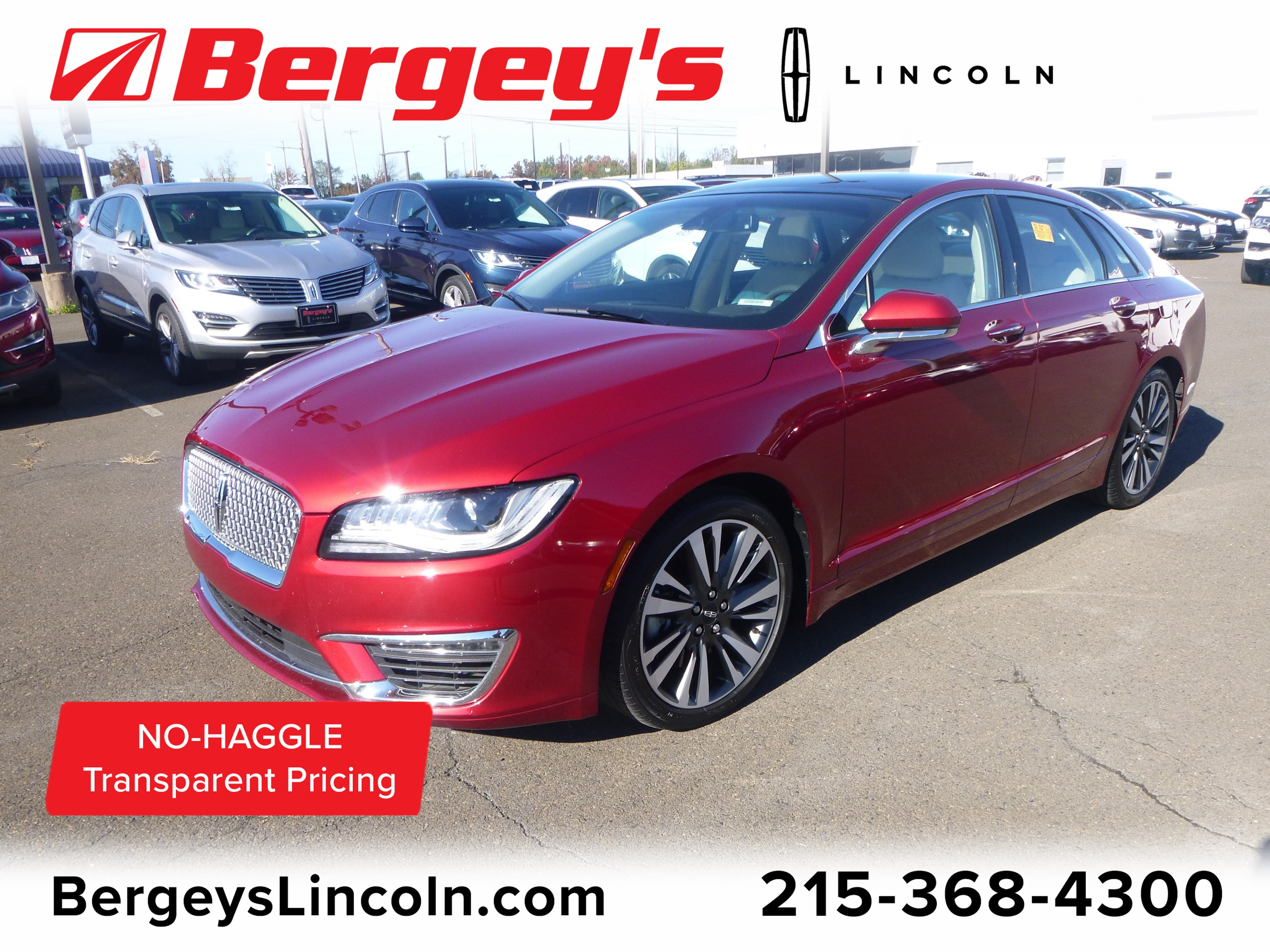 2017 Lincoln MKZ 3.0T AWD Reserve w/ Panoramic Roof & Navigation Sedan