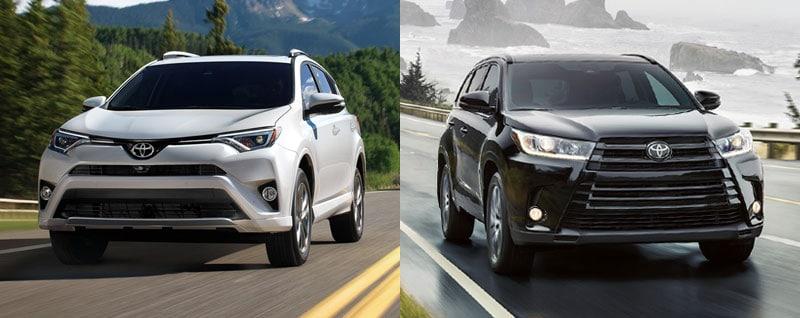 Compare 2018 Toyota Rav4 Vs 2018 Toyota Highlander