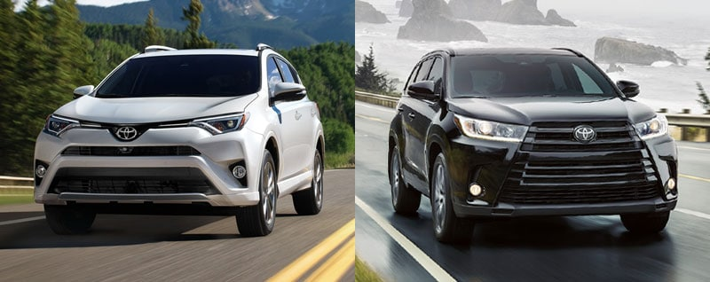 Compare 2018 Toyota Rav4 Vs 2018 Toyota Highlander Specs And Features Phoenix Az