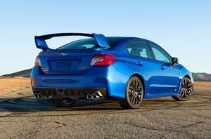 2019 Subaru WRX with Rear Spoiler