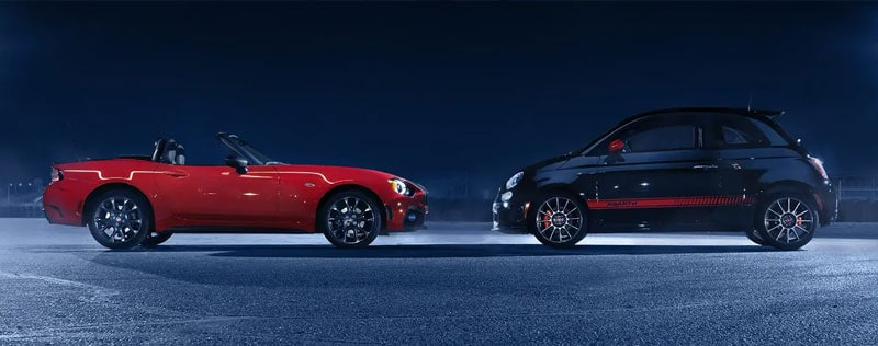 FIAT Abarth Vehicles Side by Side