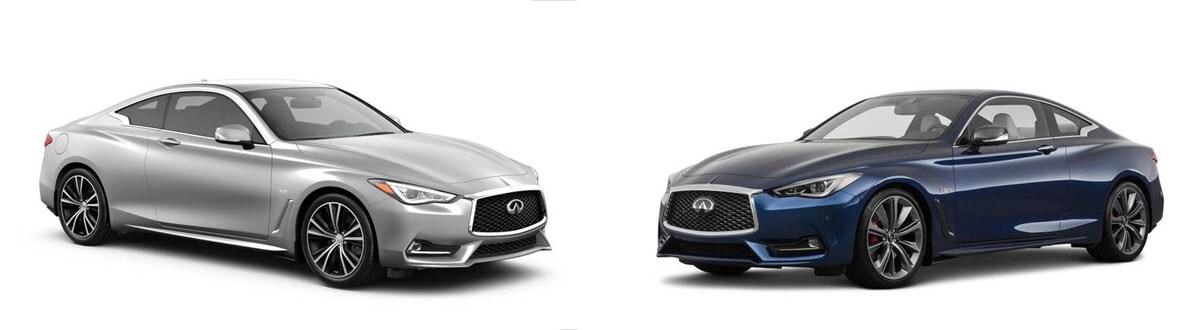 2020 Infiniti Q60 3 0t Luxe Rwd Vs 2020 Infiniti Q60 Red Sport 400 Rwd Model Comparison In Frisco Tx
