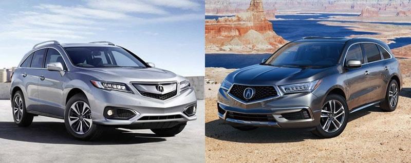Compare 2018 Acura Rdx Vs 2018 Acura Mdx Arlington Tx