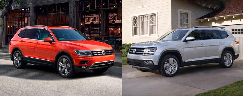 Compare 2018 Volkswagen Tiguan Vs 2018 Volkswagen Atlas Phoenix Az