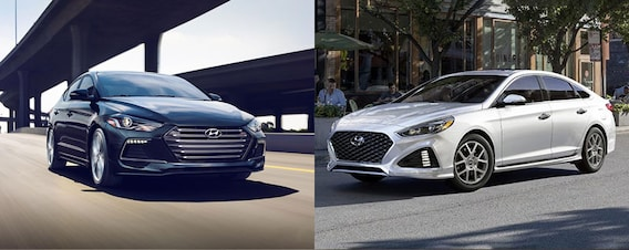 Sonata Vs Elantra >> 2018 Hyundai Elantra Vs 2018 Hyundai Sonata Comparison