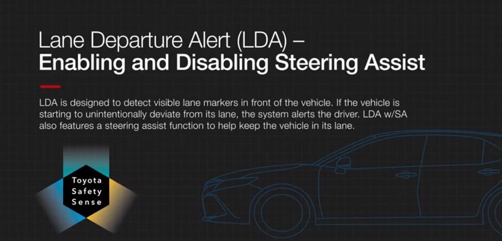 Turn Lane Departure Alert Steering