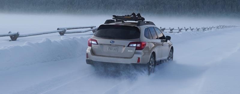 Subaru Vehicle Rear Snow Driving