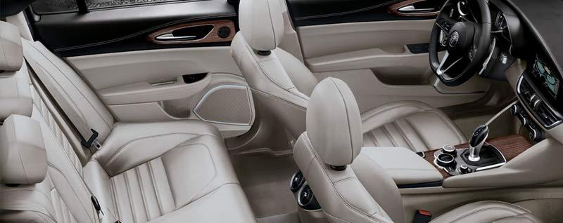 Interior of a 2018 Alfa Romeo Giulia