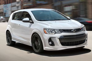 2018 Chevrolet Sonic Front
