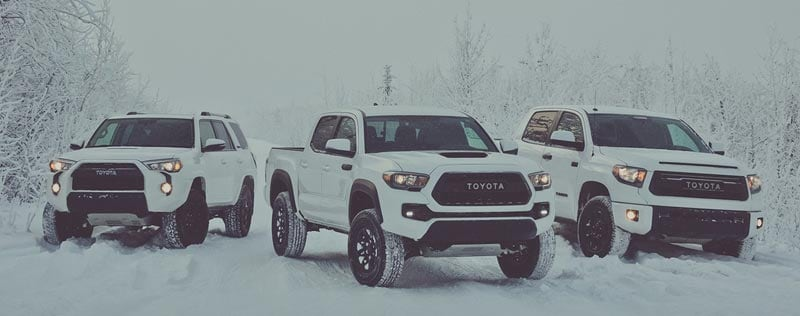 Toyota Winter Driving Vehicles
