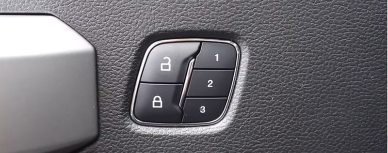 Ford Memory Seat Location Buttons