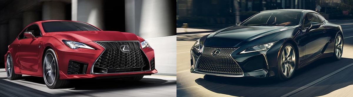 2020 Lexus RC F Coupe vs 2020 Lexus LC 500