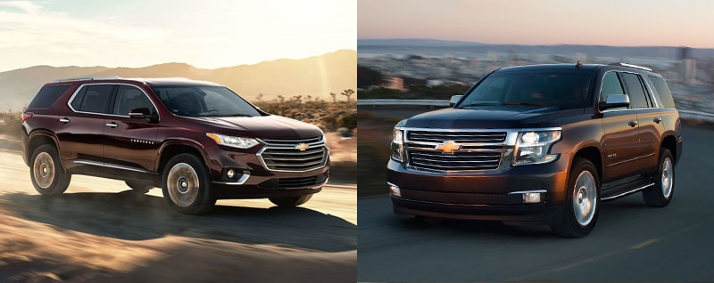 2018 Chevrolet Traverse vs 2018 Chevrolet Tahoe