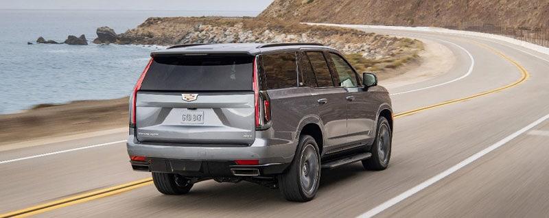 2021 Cadillac Escalade Driving Winding Road