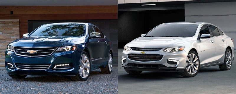 Compare 2018 Chevrolet Impala and Malibu | Features ...