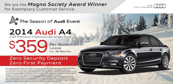Audi A Lease Special Lease Special Audi A - Audi a4 lease