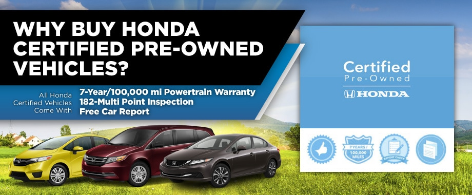 Certified Pre Owned Honda >> Why Honda Certified Pre Owned Near Natick Framingham Boston Ma