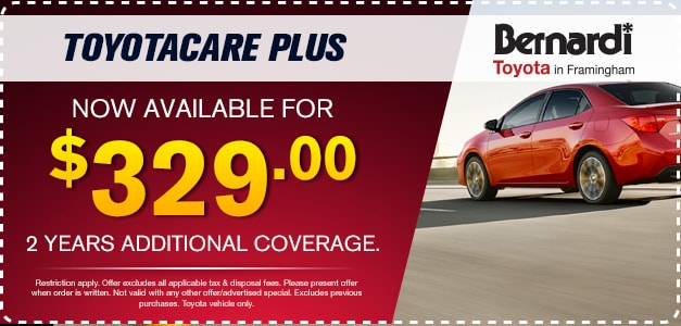 p.p1 {margin: 0.0px 0.0px 0.0px 0.0px; font: 12.0px Helvetica} ToyotaCare Plus Now Available For $329 2 Years of Additional Coverage