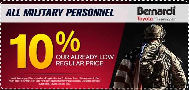 10% Our Already Low Regular Price For All Military Personnel