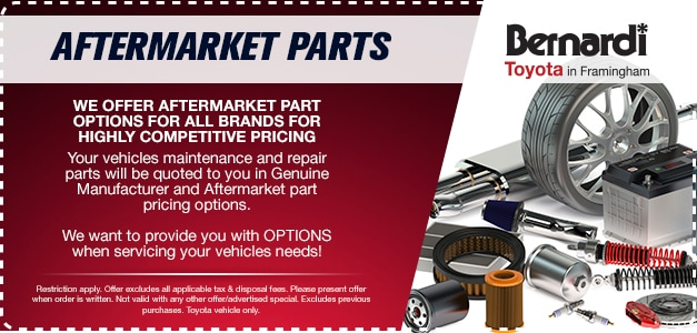We Offer Aftermarket Part Options For All Brands For Highly Competitive Pricing