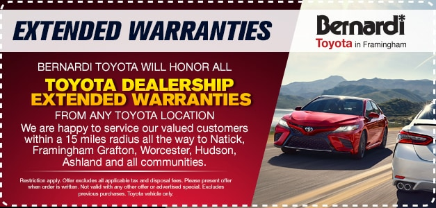 Bernardi Toyota Will Honor All Toyota Dealership Extended Warranties