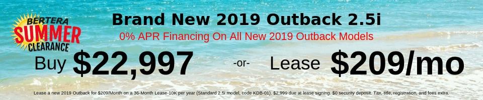 2019 Outback 2.5i $22,997
