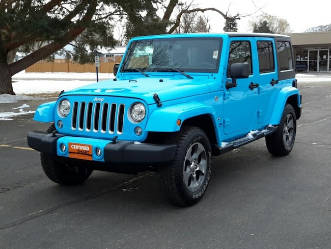 Certified Pre Owned 2017 Jeep Wrangler Unlimited Sahara Wagon; Open Body For Sale Glenwood Springs, CO
