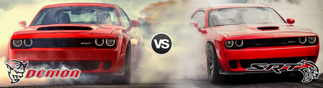 Charger Vs Challenger >> Compare 2018 Dodge Challenger SRT Demon vs 2017 Challenger SRT Hellcat