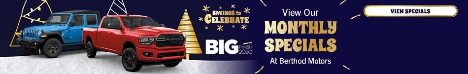 December 2020 Monthly Specials