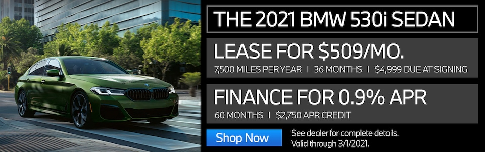 New Vehicle Special - 2021 530i